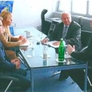 Lehmann und Partner bei Gesprächen in der Bundesgeschäftsstelle des BWA.